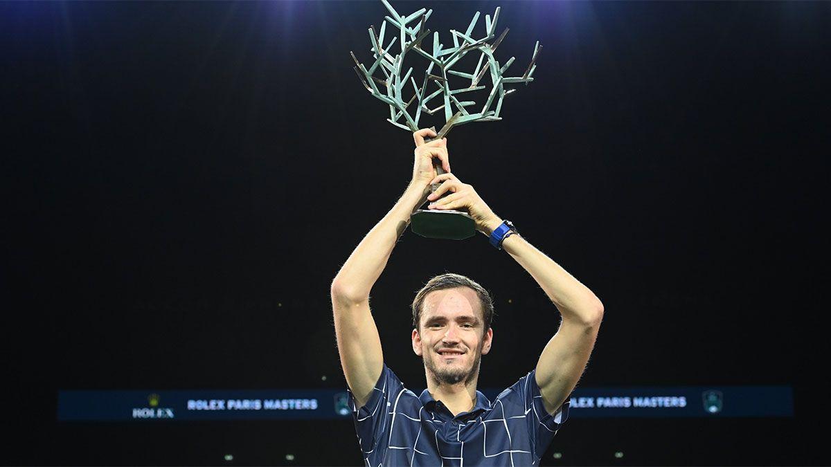 Medvedev se quedó con el Masters 1000 de París