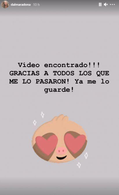 Dalma Maradona, desesperada por este video junto a su papá
