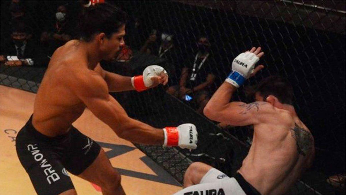Impactante lesión en una pelea de MMA en Brasil