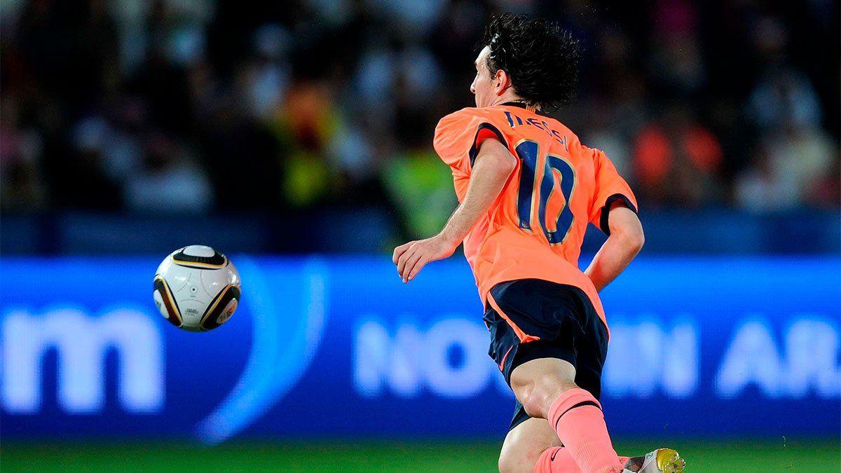 Barcelona recuerda el gol de Messi a Estudiantes en la final del Mundial de Clubes 2009.