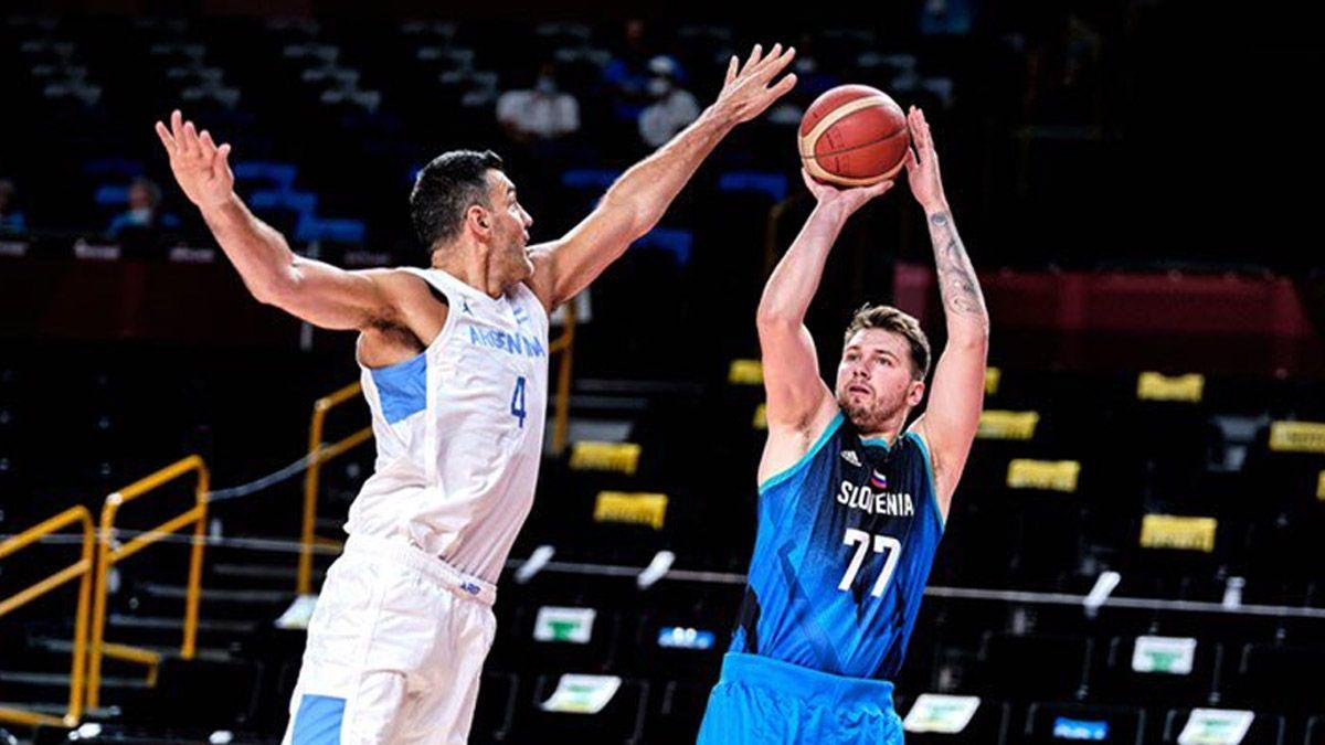 La Selección argentina padeció a la Eslovenia de Doncic