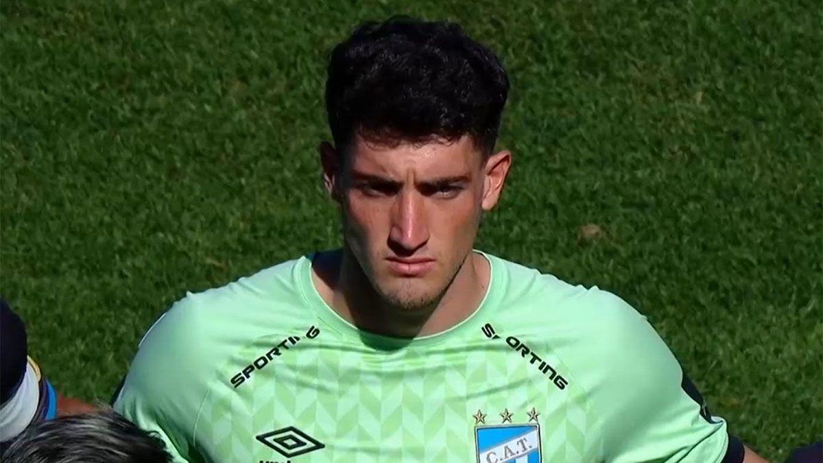 Tomás Marchiori debutó este domingo en Atlético Tucumán.