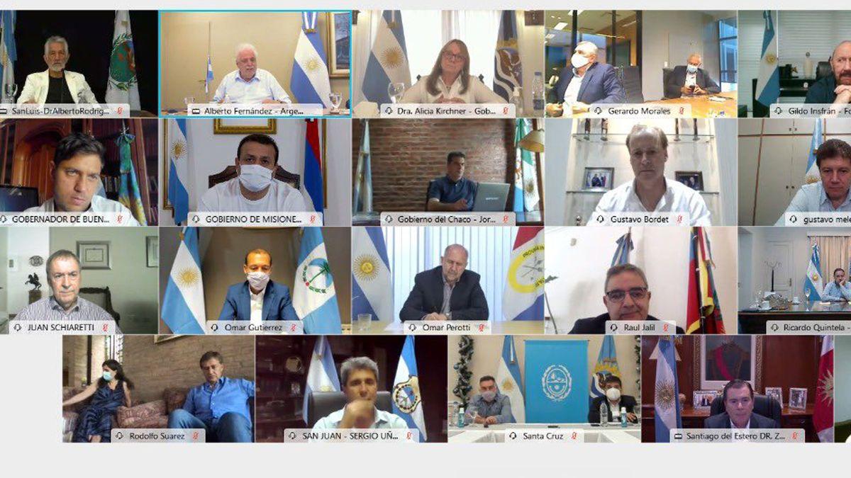 Alberto Fernández se volverá a reunir con los gobernadores.