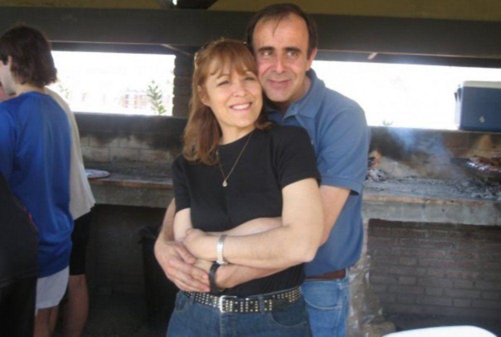 Norma Carleti y Leonardo Hisa en una imagen de los tiempos felices. Ahora
