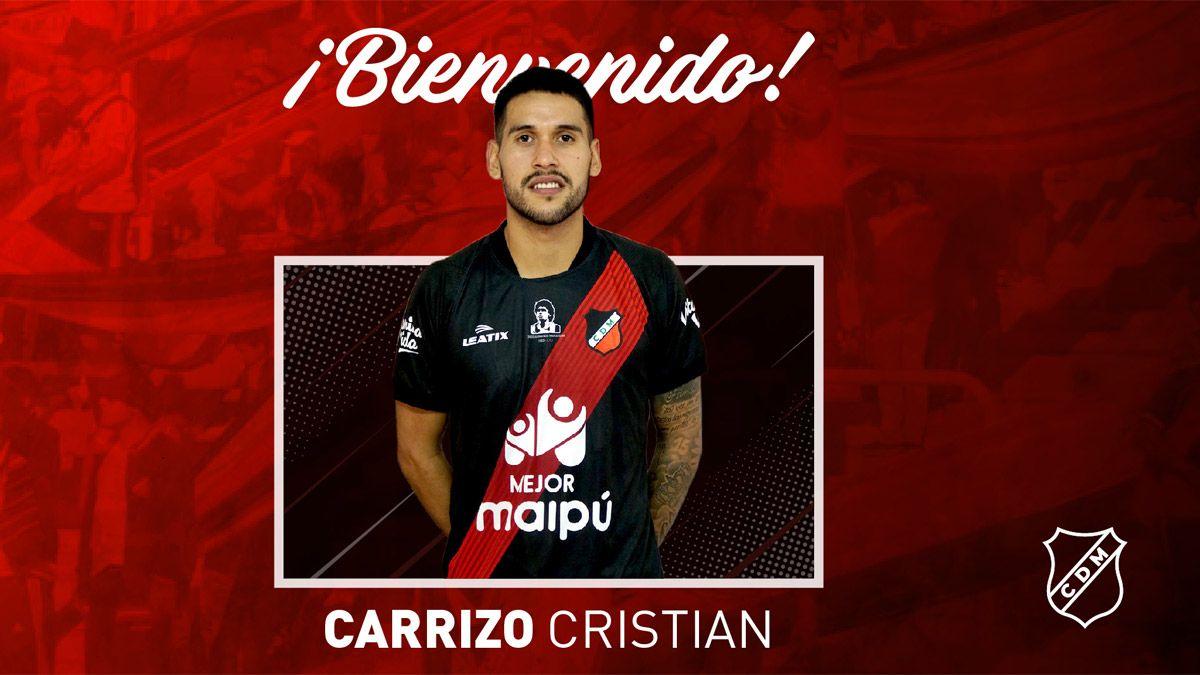 Cristian Carrizzo ya se entrena con el Deportivo Maipú