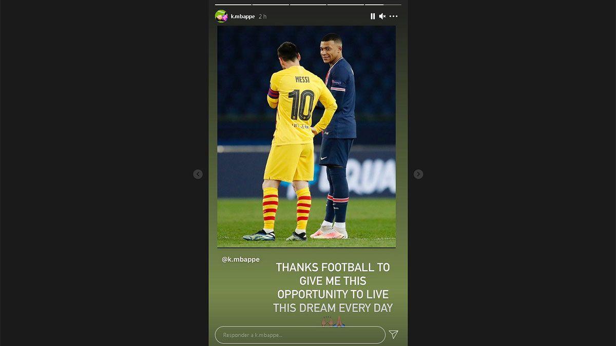 Mbappé le dedicó un posteo impresionante a Messi