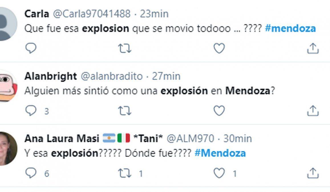 Qué fue esa fuerte explosión que se sintió en Mendoza