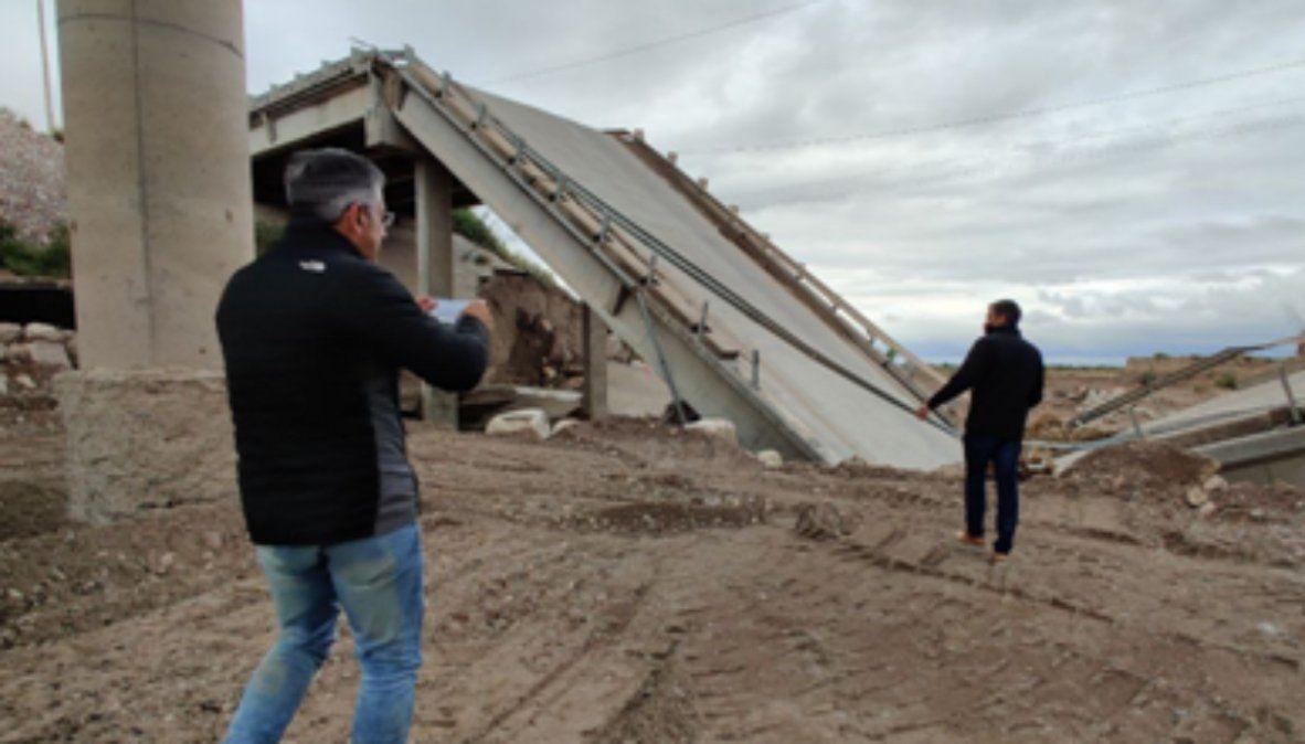 El senador Marcelo Romano y el diputado Mario Vadillo visitaron la zona donde colapsó el puente el 27 de febrero de este año y el del 8 de febrero de 2020