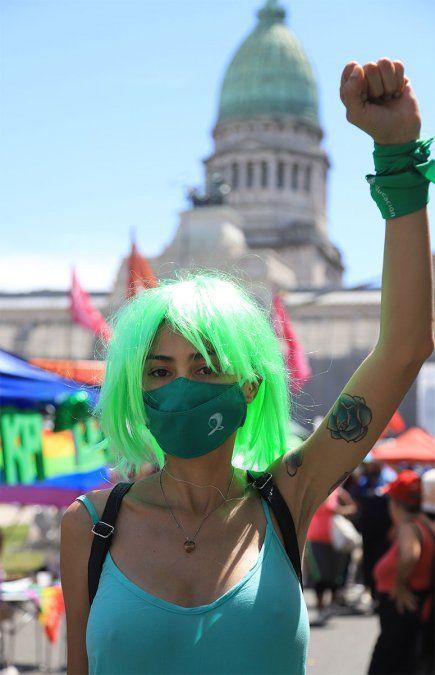 La organización Amnistía Internacional entregó al Senado un texto con más de 250 mil firmas pidiendo el aborto legal en la Argentina.