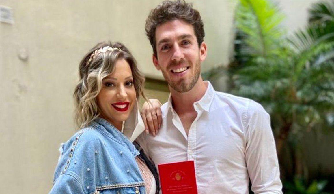 Noelia Marzol y su esposo Ramiro Arias.