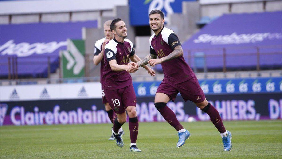Leandro Paredes marcó un golazo en el triunfo del PSG de Pochettino