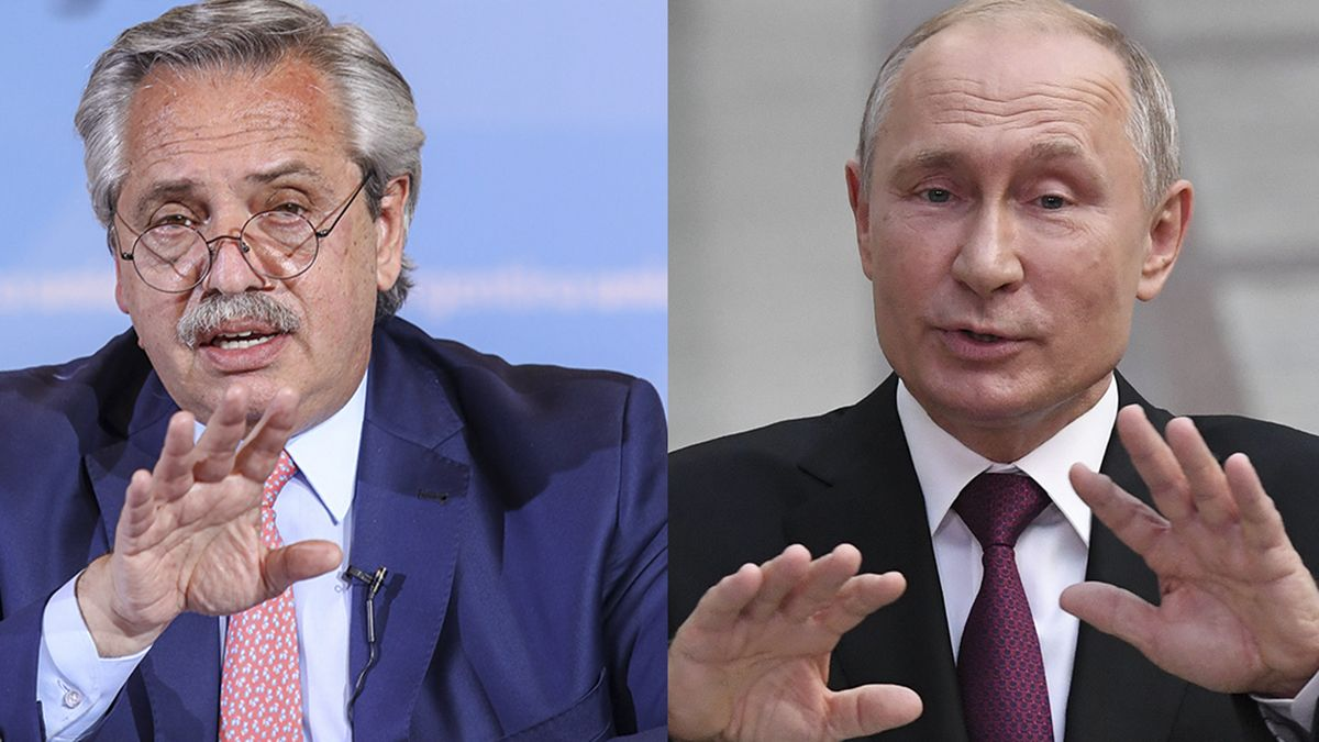 Alberto Fernandez y Vladimir Putin