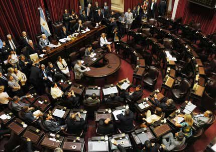 El oficialismo se retiró del Senado en la sesión para votar las comisiones