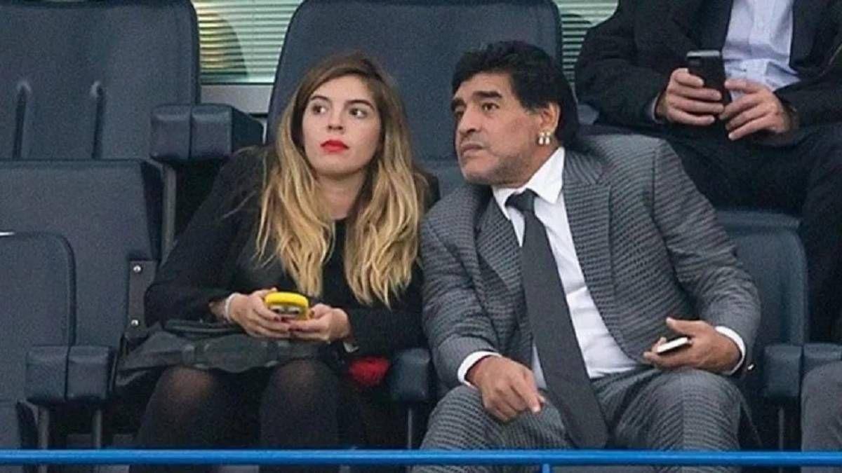 Dalma y Diego Maradona.