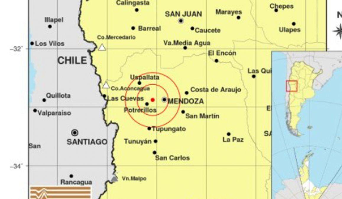 Fuerte temblor con epicentro en Mendoza