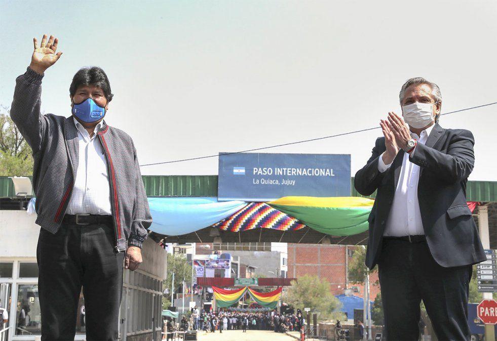 Evo Morales abandonó este lunes la Argentina y agradeció al presidente argentino Alberto Fernández. Foto: NA.