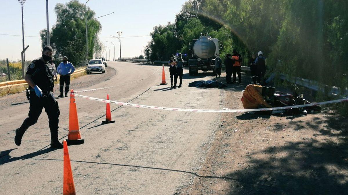 Un motociclista murió en Luján tras ser embestido por un camión