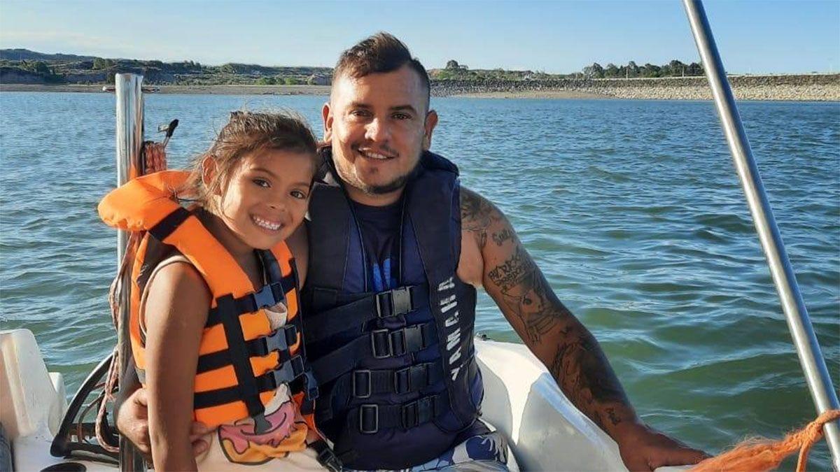 Martín Quiroga y su hija Evangelina