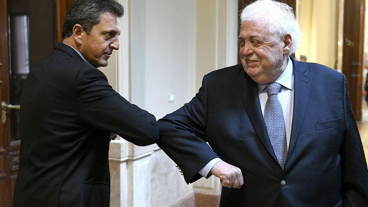 Ginés Gonzáles García fue recibido este miércoles por el presidente de la Cámara de Diputados