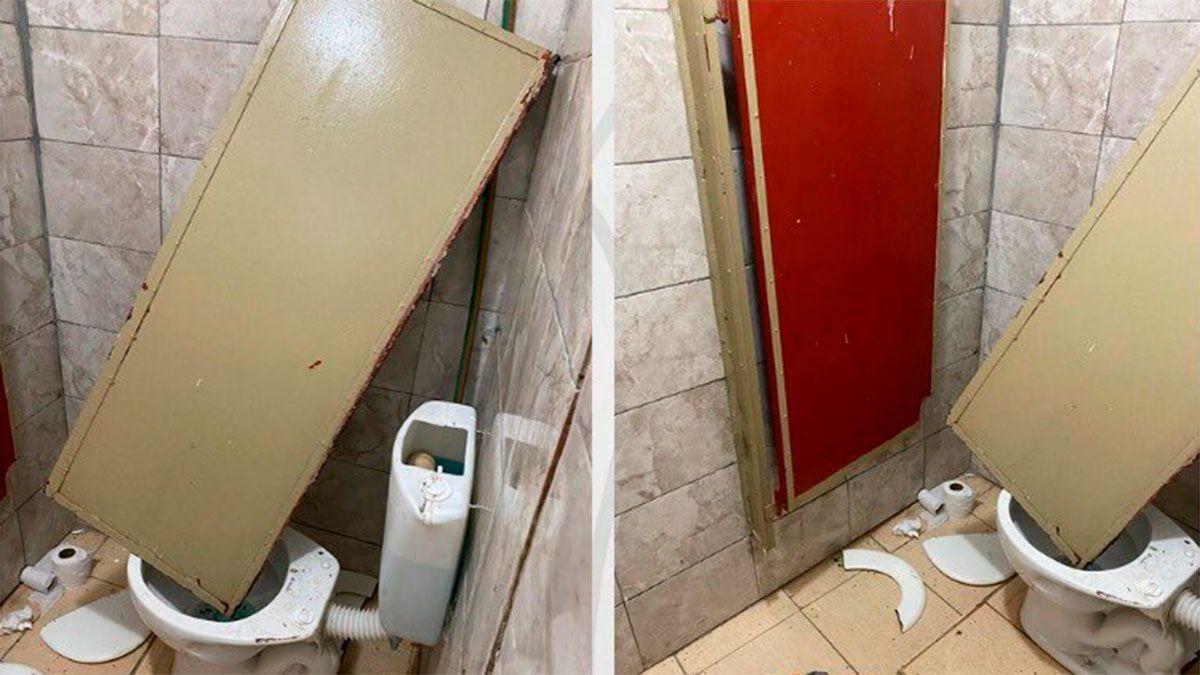 Barracas Central denunció destrozos en el vestuario visitante