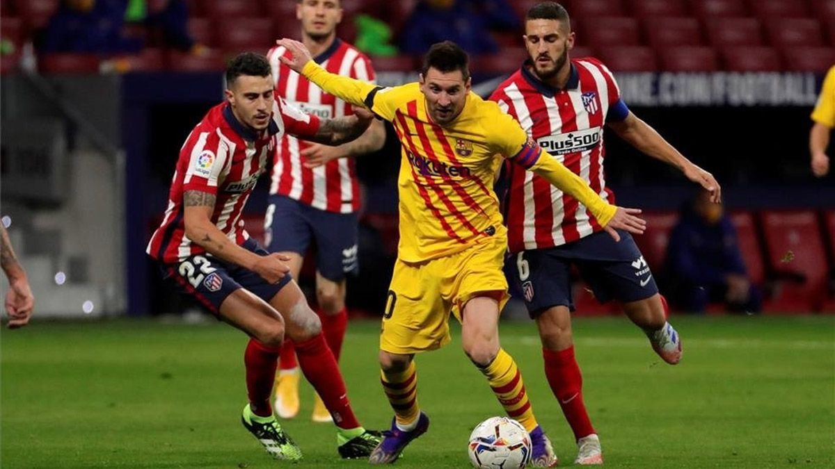 Barcelona perdió con el Atlético de Madrid del Cholo Simeone