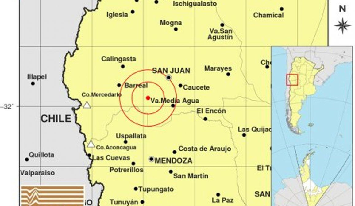 Terremoto de 6.8 con epicentro en San Juan se sintió en Mendoza