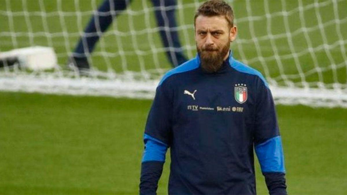 El ex Boca Daniele De Rossi está internado en Italia