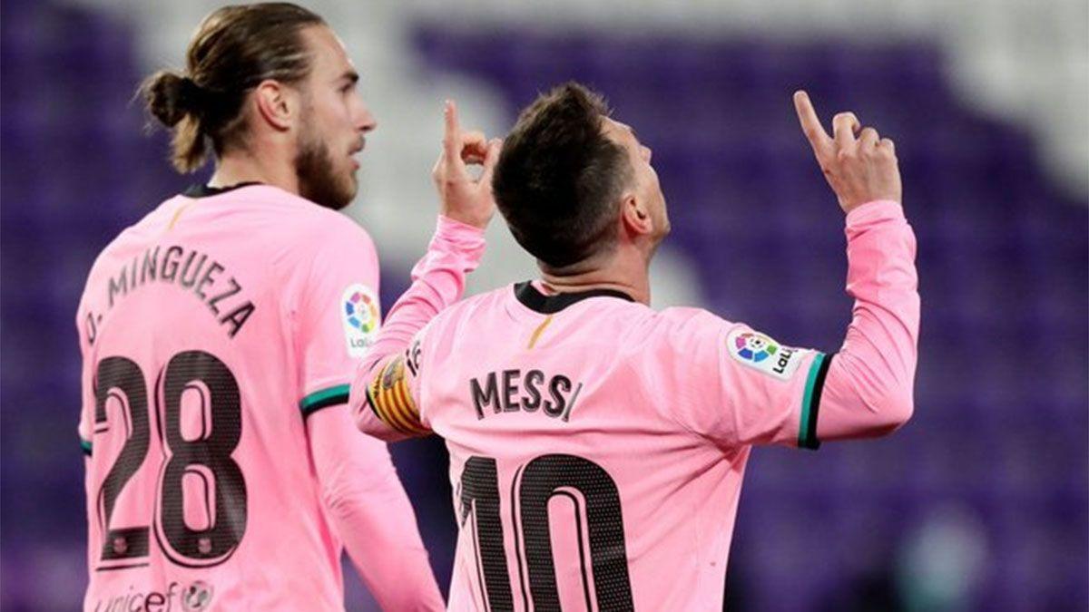 Barcelona venció a Valladolid y Messi superó el récord de Pelé