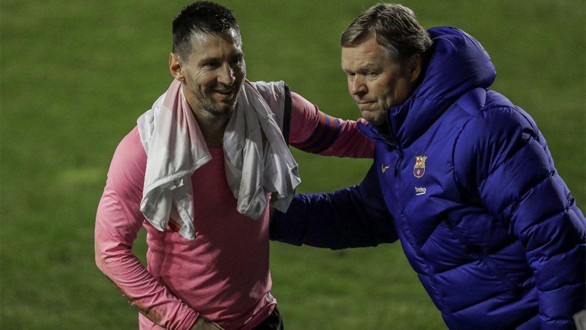 Koeman, obsesionado por retener a Messi en Barcelona