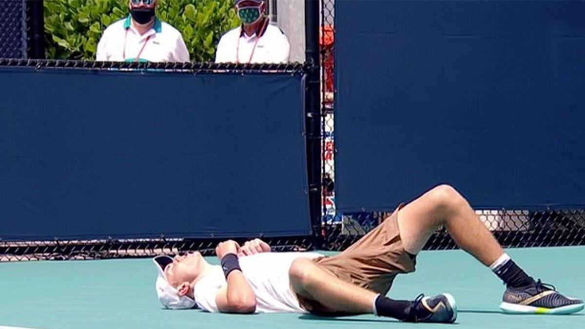Miami Open: un tenista se desplomó en pleno partido