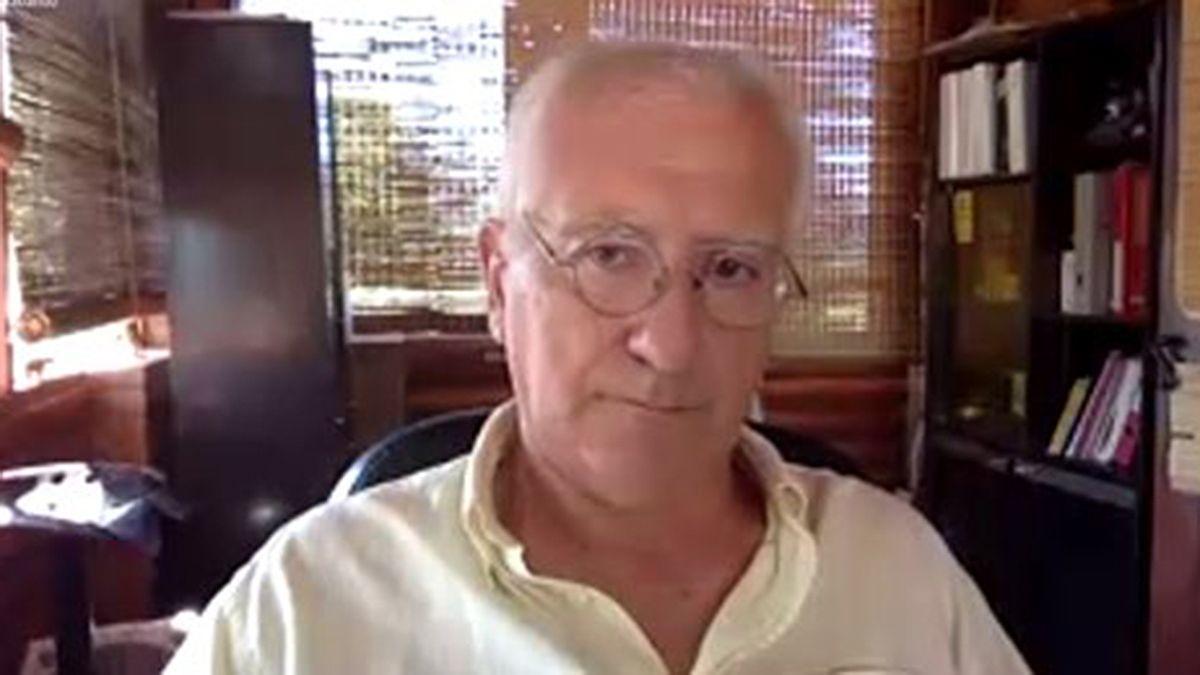 Alfredo Scafati durante la audiencia virtual del juicio de lesa humanidad.