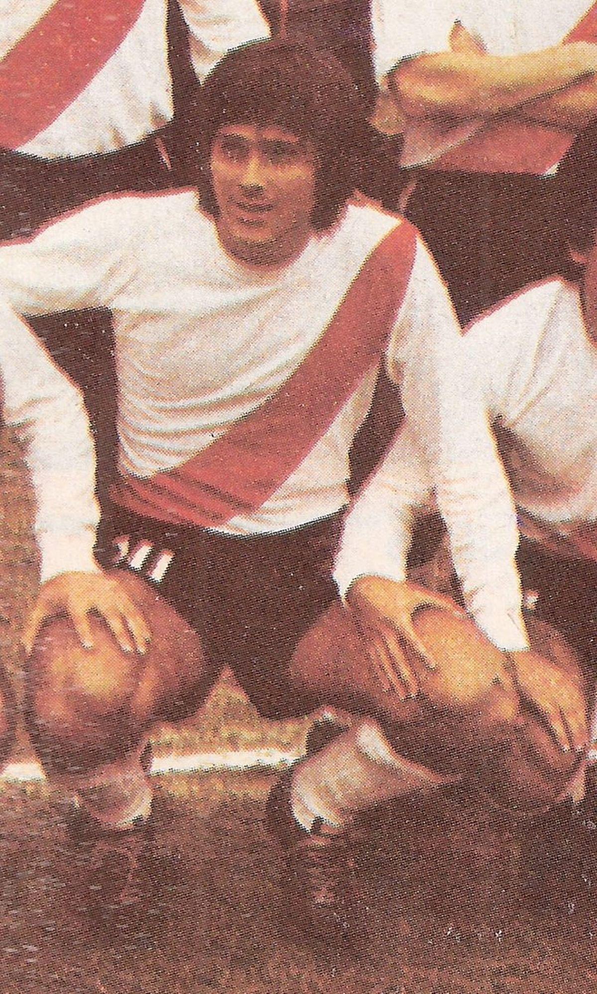 Pedro Coudannes cuando jugó en River