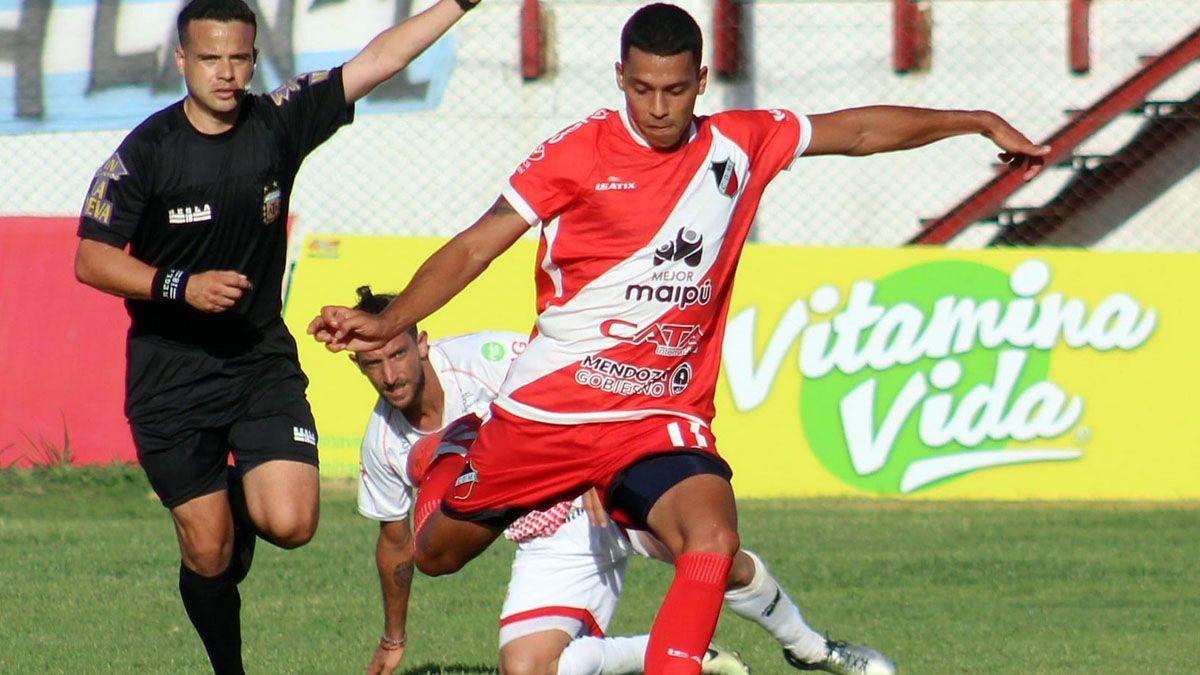 Veliez debutó con un gol en su vuelta al Deportivo Maipú.
