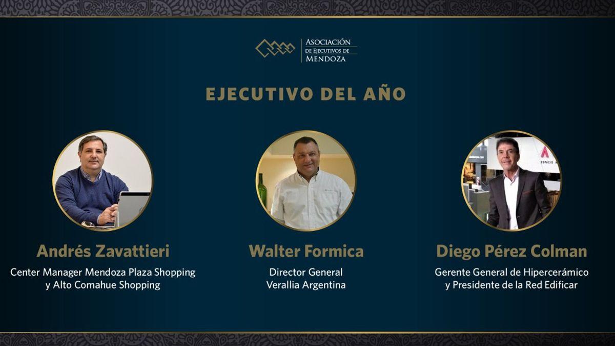"La terna ""Ejecutivo del Año"" de la Fiesta Anual Empresaria de AEM está integrada por Andrés Zavattieri"