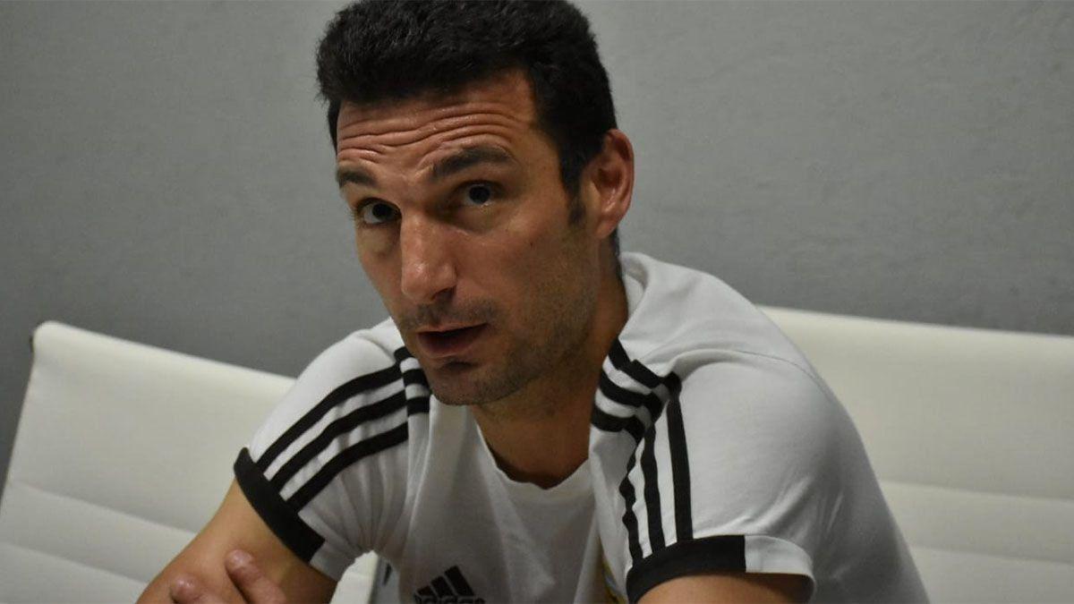 Scaloni no confirmó el once y dijo que Messi está apto