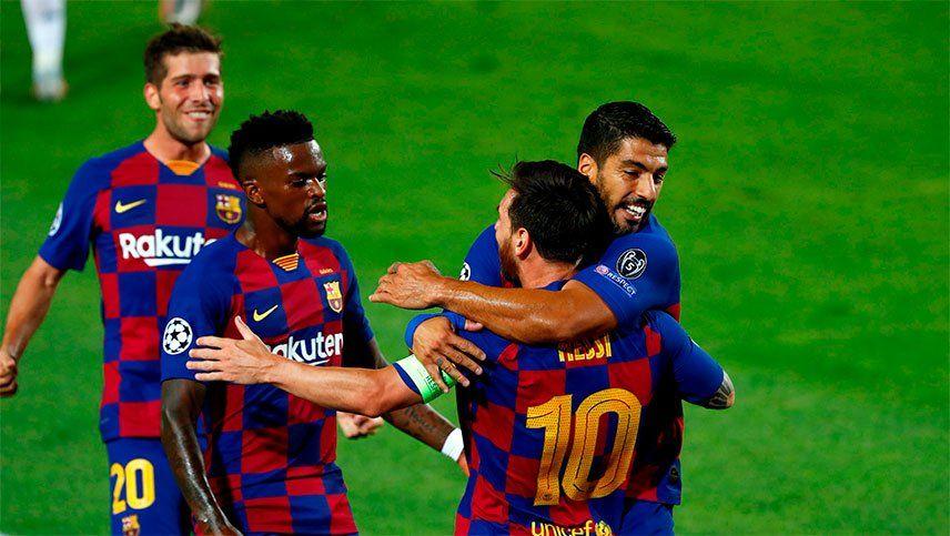 Con uno de Messi, Barcelona venció 3-1 al Napoli y se metió en cuartos