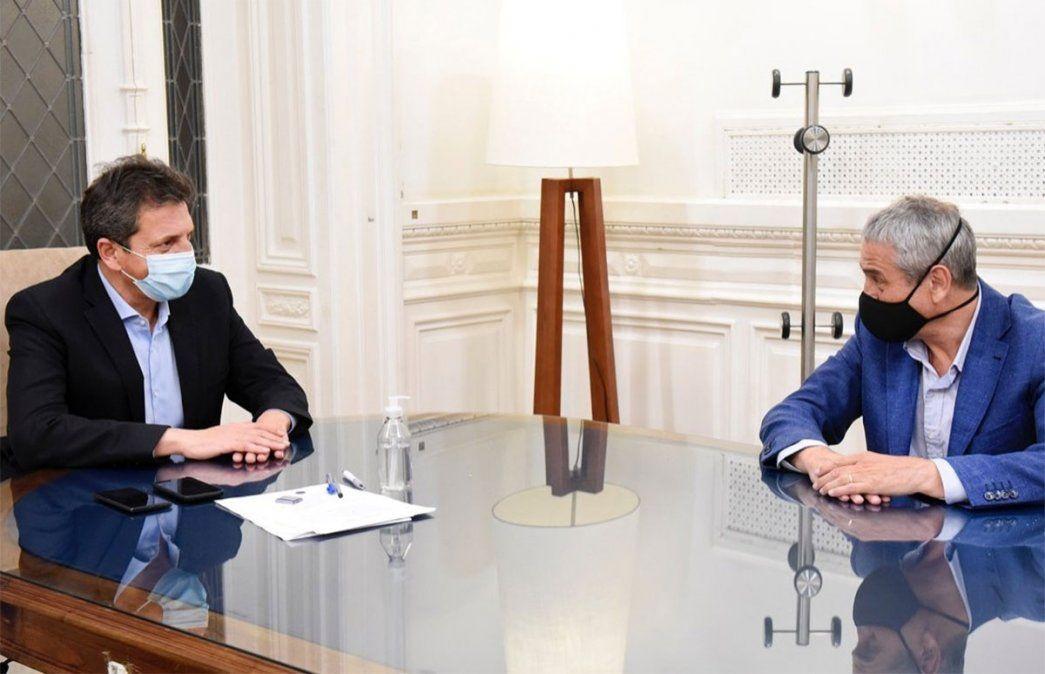 Sergio Massa recibió en su despacho del Congreso al nuevo ministro de Desarrollo Territorial y Hábitat para hablar sobre viviendas sociales.