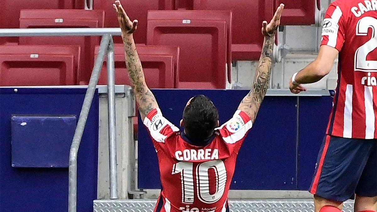 Atlético de Madrid, de la mano de Correa, recuperó la cima