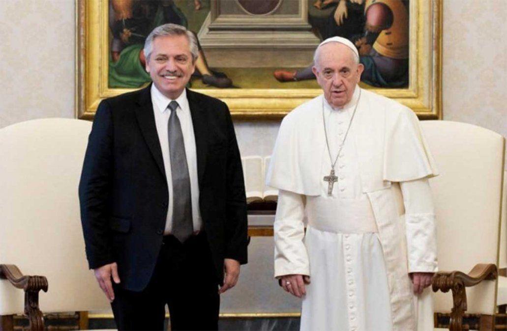 Alberto Fernández se reunió este jueves en el Vaticano con el papa Francisco a solas