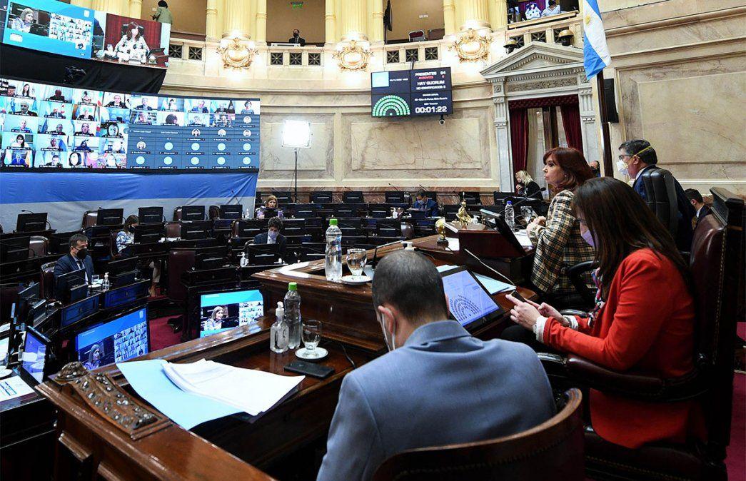Cristina Kirchner convocó a una sesión especial para las 14 en la que el Senado tratará el Presupuesto 2021. Foto: NA.
