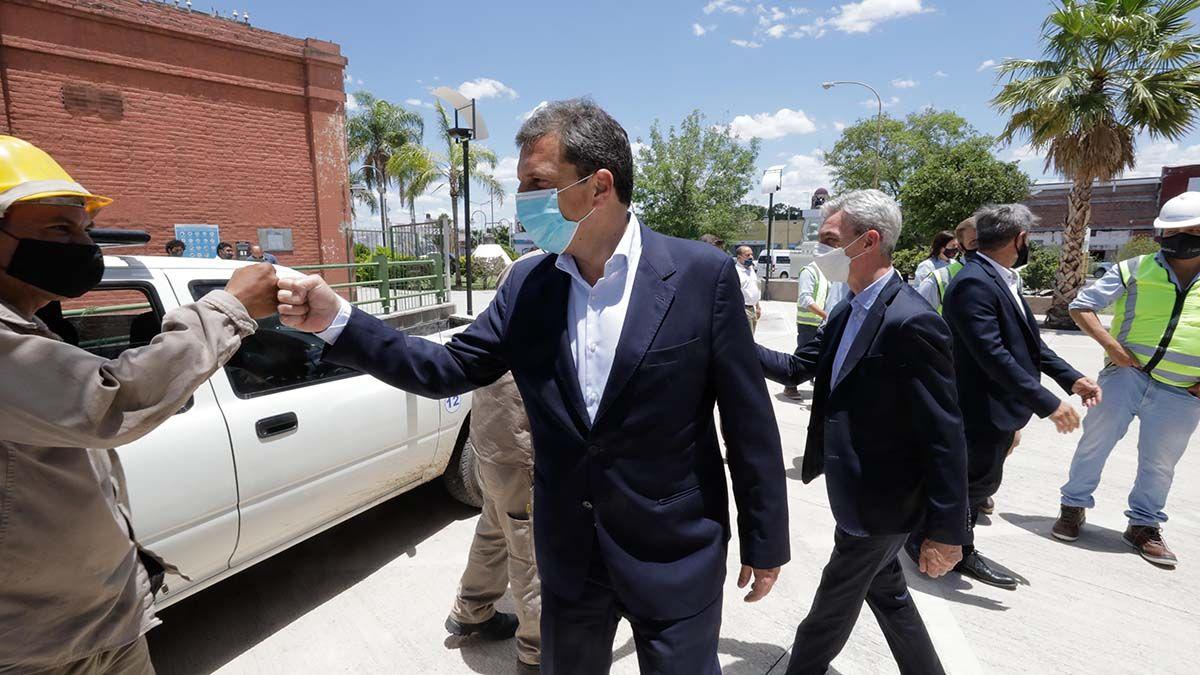 Sergio Massa y el ministro Mario Meoni anunciaron obras para Santiago del Estero.
