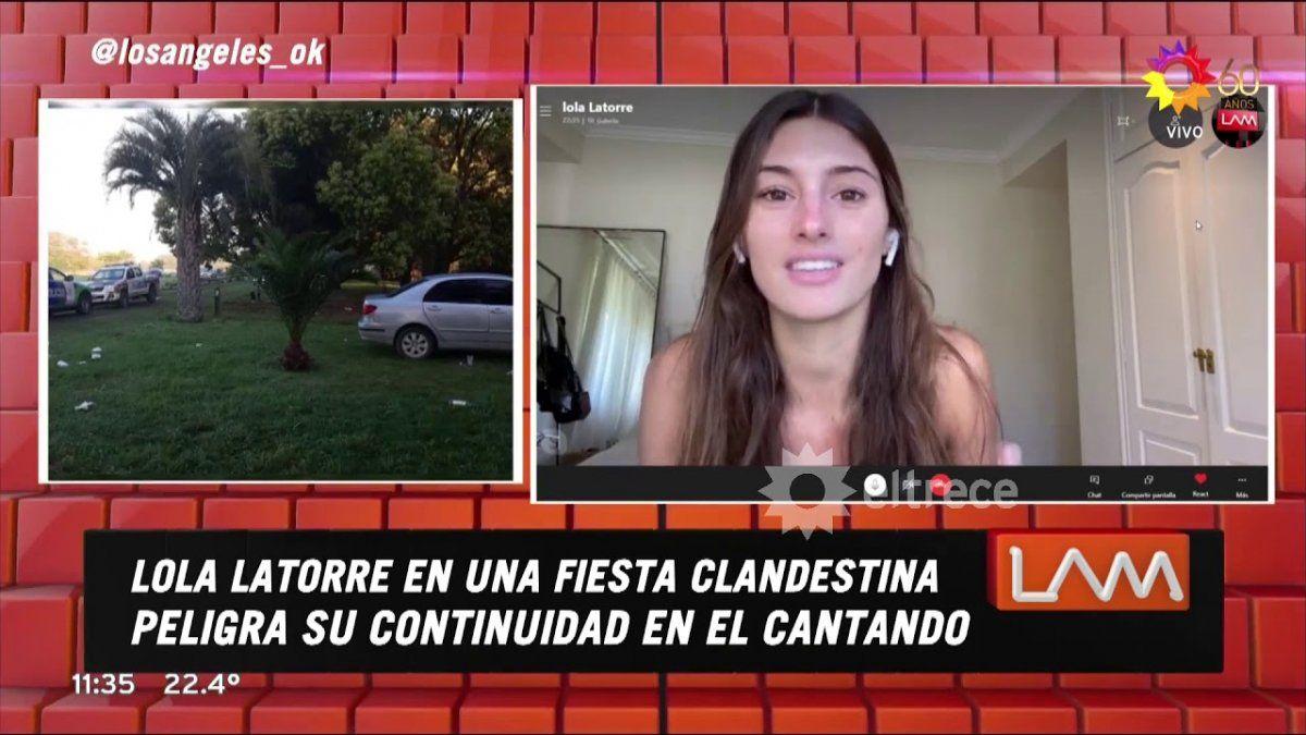 Lola Latorre nerviosa al responder sobre la fiesta clandestina: Parece un interrogatorio policial