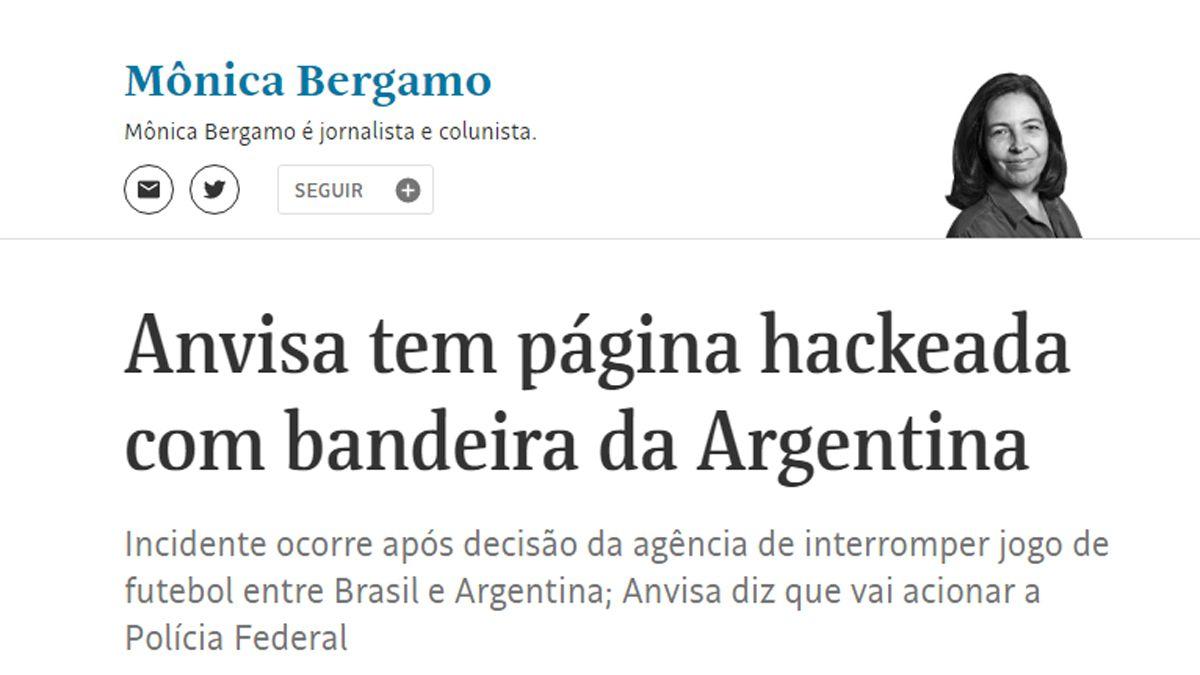 La noticia del hackeo fue publicada por Folha de San Pablo.