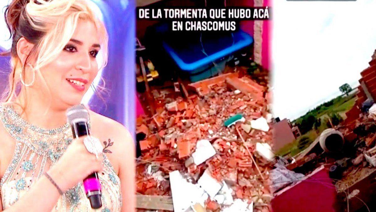 Rocío Quiroz rompió en llanto por los destrozos en su casa.