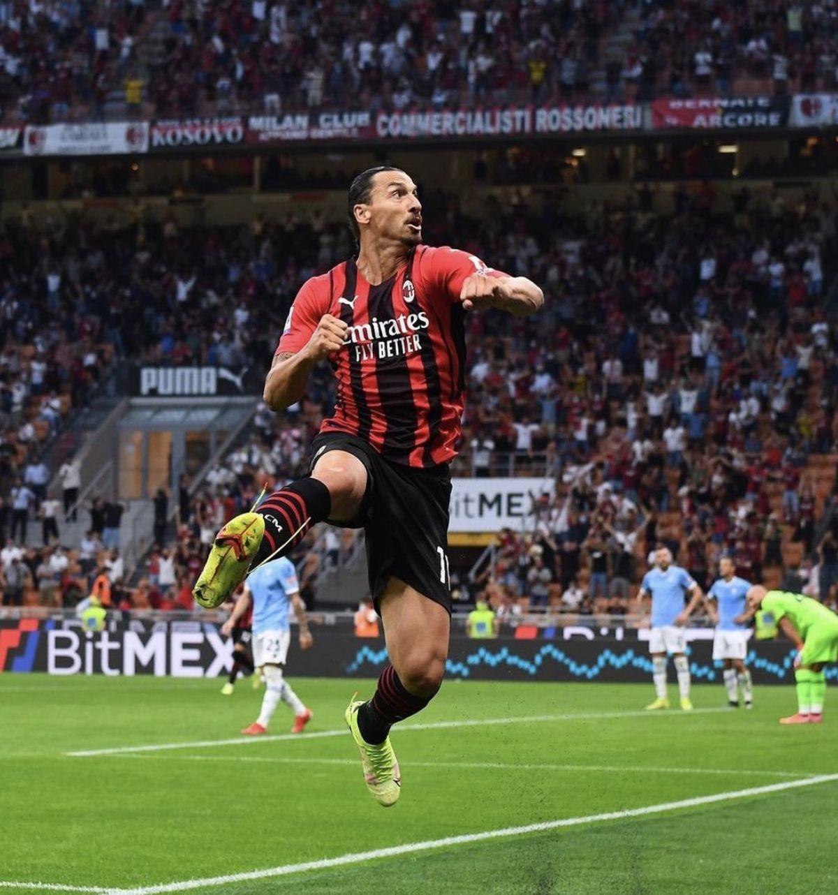 Zlatan Ibrahimovic volvió y llevó al Milan a la punta de la Serie A.