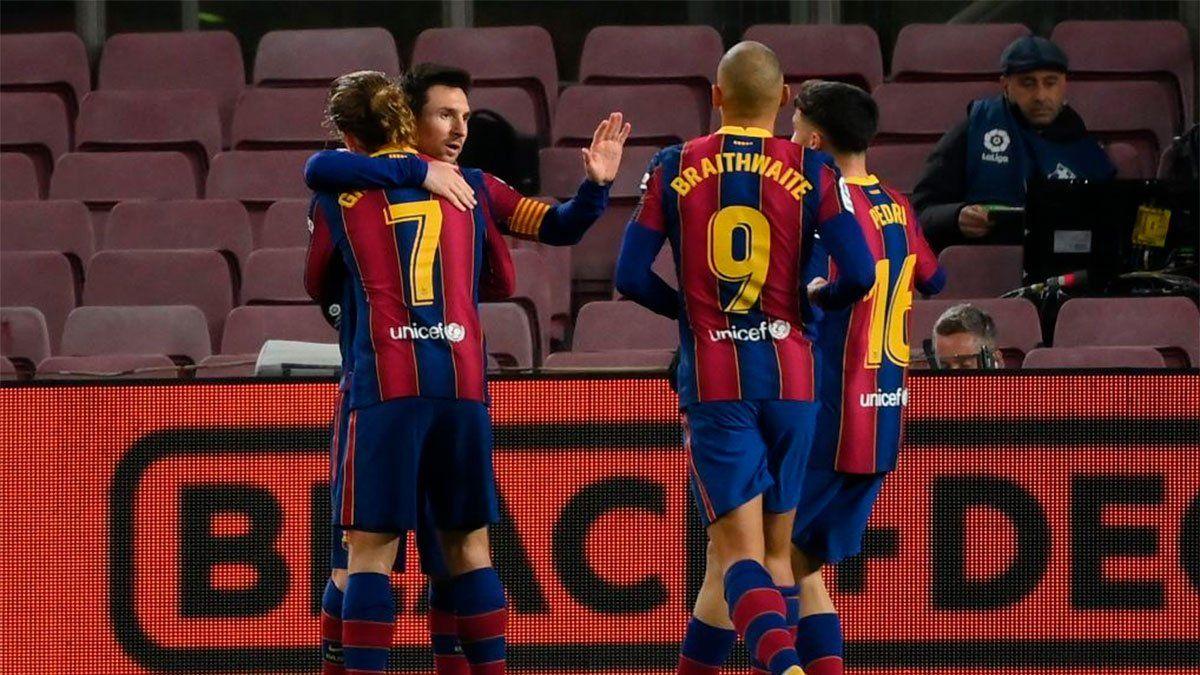 Lionel Messi le dio el triunfo al Barcelona con un gran tiro