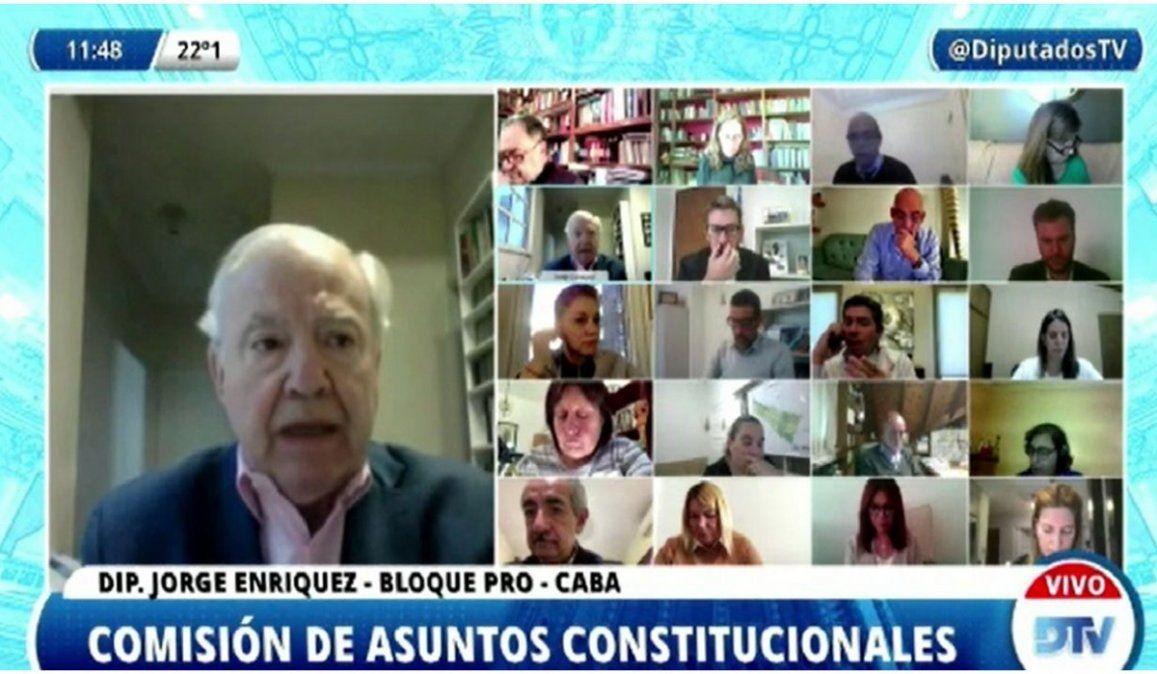 El diputado de JUntos por el Cambio Marcelo Orrego fue el protagonista saliente durante una reunión de comisión