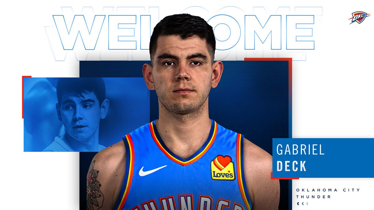 Gabriel Deck fue oficializado por Oklahoma en la NBA