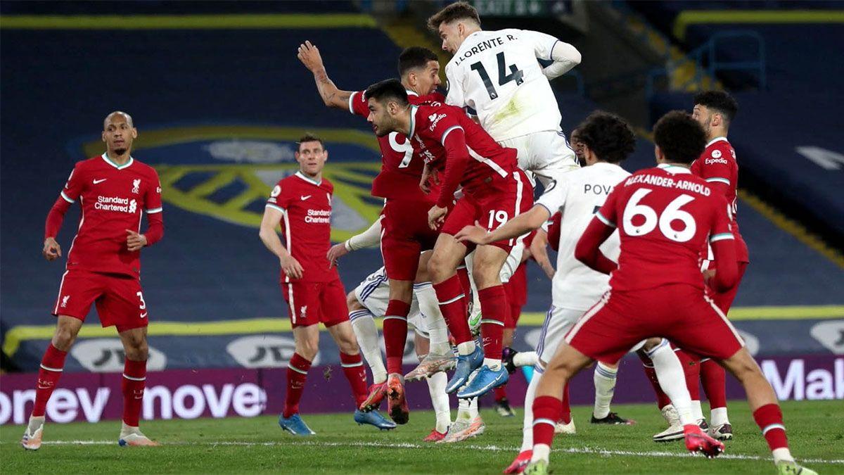 El Leeds de Bielsa le empató al Liverpool con el último esfuerzo