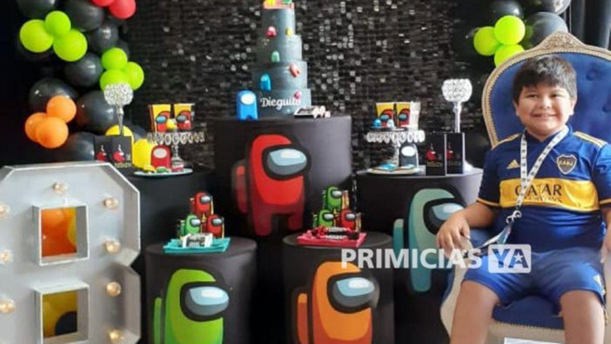Las fotos del festejo de cumple de Dieguito Fernando Maradona